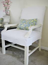 White Wooden Chair With Cover Plus Black Square Table As Well Dining Slipcovers Arms Also Custom For Chairs Arms   S