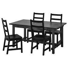 <b>НОРДВИКЕН</b> / <b>НОРДВИКЕН</b> Стол и 4 стула, черный, черный - <b>IKEA</b>