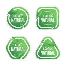 Free Vector | <b>100</b>% natural badge collection