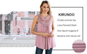 KIRUNDO 2019 Summer Women's Lace-Paneled ... - Amazon.com