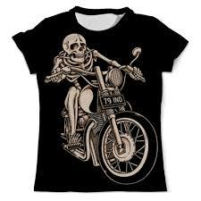 Футболка с полной запечаткой (мужская) <b>Skeleton Biker</b> #1014332