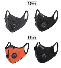 Men <b>Cycling Face Mask Activated</b> Carbon Dust-proof Sport Training ...
