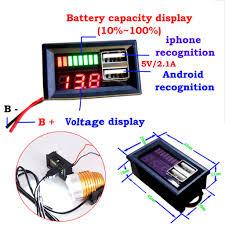 PTPTRATE  New LED 12V Lead Acid <b>Battery Capacity Indicator</b> ...