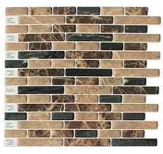 stick wall tiles quotxquot: crystiles peel and stick self adhesive vinyl wall tiles brown and black marbling