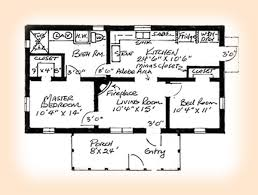 bedroom adobe house plans   Adobe House Plan Larger floor plan image