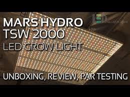 <b>Mars Hydro</b> TSW <b>2000</b> LED Grow Light Unboxing, Review, PAR ...