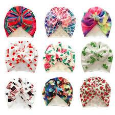<b>9 PCS</b>/<b>Lot</b> Flower Bonnet Hat Cap with Big Bow For <b>Baby</b> Girl <b>Infant</b> ...