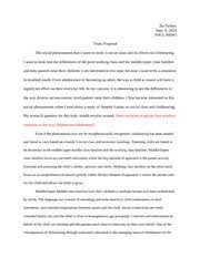 compare ampamp contrast essay  social class and childrearing   tia   pages paper topic proposal on social class