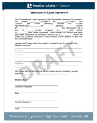 lease termination letter rental termination letter to tenant