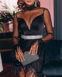 <b>Sheer</b> Mesh Patchwork Fluffy <b>Ruched Party</b> Dress Online. Discover ...