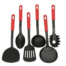 kitchen utensil:  new pcs black nylon kitchen tool set cooking tools utensils spoon scoops soup utensils
