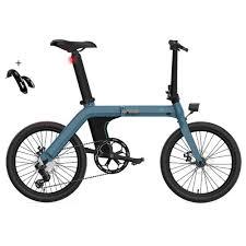 "<b>FIIDO D11 Folding Electric</b> Moped Bicycle 20"" 250W Motor Blue"