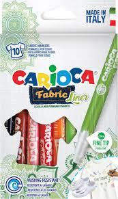 Набор <b>фломастеров для ткани Carioca</b> Fabric Liner, 262626, 10 ...