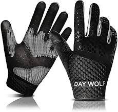 Gloves day wolf New Full <b>Finger Workout</b> Gloves Gym Exercise <b>Half</b> ...