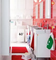 ideas bathroom tile color cream neutral: cherry red and white red ikea bathroom cherry red and white