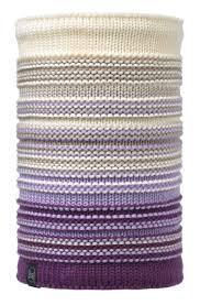 <b>Шарф Buff Knitted&Polar</b> Neckwarmer белый/фиолетовый: купить ...