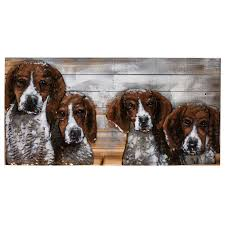 """Картина Miralight деревянная с металлом L18B28 """"Собаки ..."""