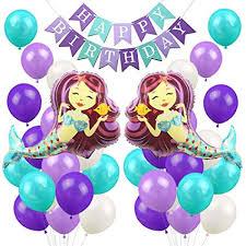 <b>Mermaid Balloons Party</b> Decorations <b>Mermaid</b> Happy Birthday ...