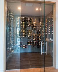 modern wine room with glass doors wine room cellar contemporary box version modern wine cellar furniture