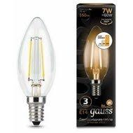 <b>103801107</b>-<b>S Лампа Gauss</b> LED <b>Filament</b> Candle E14 7W 2700К ...