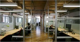 office space rented by green desk at 155 water street in the dumbo section of brooklyn the building is a former coffee factory credit hiroko masuike for broadway green office furniture