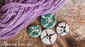 <b>Handmade</b> Ceramic Buttons – Knit One, <b>Crochet</b> Too