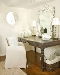this is a space being used for a makeup table but can easily be used for a place to do work w a laptop and a phone your ready to work amazing home offices women