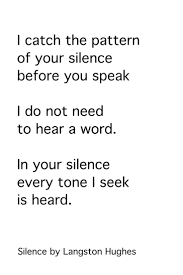 17 best ideas about poems by langston hughes the patterns and tones of silence