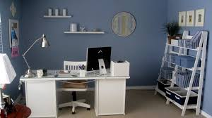 most seen ideas featured in sophisticated white and blue desk for your home office and kids room furnitures blue home office dark wood