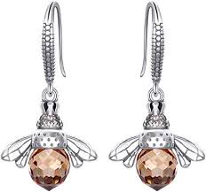 EleQueen 925 Sterling Silver Vintage Inspired Brown ... - Amazon.com