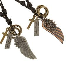<b>New Arrival Trendy Fashion</b> Handmade Vintage Corss Angel Wings ...