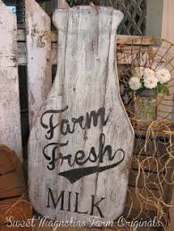 wood sign glass decor wooden kitchen wall: milk bottle wood sign farmhouse style quot t x quot w