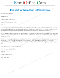 promotion request letter and application format request for promotion consideration in email