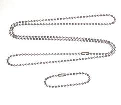 <b>Stainless steel</b> 4.5 in <b>and</b> 27 in. <b>military dog</b> tag ball chain Ships in 1-2
