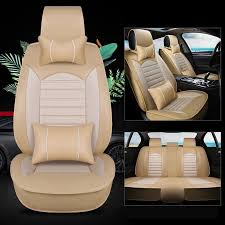 kalaisike Leather plus Flax <b>Universal Car Seat covers</b> for ...