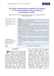 (PDF) The effects of <b>multi mineral</b>-<b>vitamin</b> D and vitamins (C+E ...