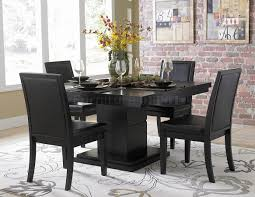 black kitchen dining sets: black finish modern dining table w optional side chairs dining room ideas pinterest room set chairs and dining rooms