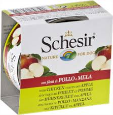 <b>Консервы</b> для собак <b>Schesir Nature for</b> Dog Chicken Fillets & Apple