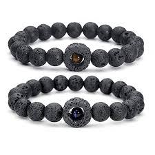 <b>Creative Black</b> Lava <b>Natural</b> Stone Beads Bracelets for Women ...