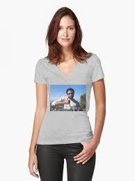 """""""<b>Childish Gambino Good</b> Job"""" Women's Fitted V-Neck <b>T</b>-<b>Shirt</b> by ..."""
