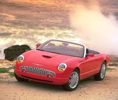 2005 red ford thunderbird convertible