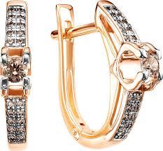 Золотые серьги <b>Vesna jewelry</b> 2489-156-09-00 с бриллиантами ...