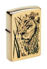 """<b>Зажигалка Zippo</b> """"Classic. <b>Proud Lion</b>"""", 3,6 х 1,2 х 5,6 см — купить в ..."""