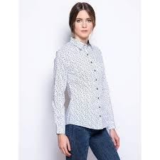 <b>Рубашка</b> женская белая с рисунком <b>огурцы</b> с длинными рукавами