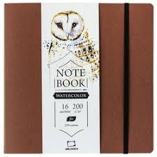 «<b>Скетчбук для акварели Малевичъ</b> Shammy cocoa 16 х 21 см, 200 ...