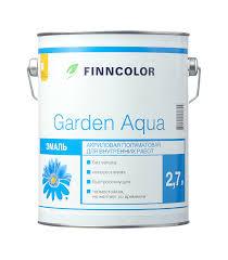 <b>Эмаль акриловая Finncolor Garden</b> Aqua основа A полуматовая 2 ...