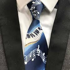 <b>2019</b> Designer's <b>Men Tie</b> Fashion Music Printed <b>Necktie</b> Piano with ...