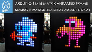 Arduino <b>16x16</b> WS2812B RGB Matrix Animation Picture Frame ...