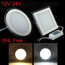 10pcs/lot,<b>Free shipping</b>,,<b>AC</b>/DC 12V 24V Glass <b>LED</b> Panel 6W 9W ...