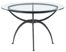 glass top dining table metal base